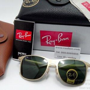 RB 3521 112/71 52-18 2N โครงทองเลนส์ดำเขียว