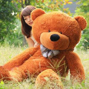 ตุ๊กตาหมีผูกโบว์สีน้ำตาลเข้ม ขนาด 1.8 m.