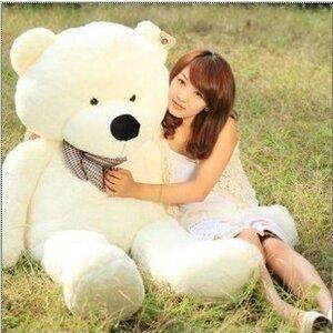 ตุ๊กตาหมีผูกโบว์สีขาว ขนาด 1.6 m.
