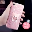 (025-989)เคสมือถือไอโฟน Case iPhone7/iPhone8 เคสนิ่มพื้นหลังลายวิ้งค์ Glitter แบบมีแหวนมือถือ/ไม่มีแหวนมือถือ thumbnail 3