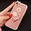 (025-979)เคสมือถือไอโฟน Case iPhone7/iPhone8 เคสนิ่มซิลิโคนใสลายหรูติดคริสตัล พร้อมแหวนเพชรวางโทรศัพท์ และสายคล้องคอถอดแยกสายได้ thumbnail 8