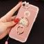 (025-979)เคสมือถือไอโฟน Case iPhone7/iPhone8 เคสนิ่มซิลิโคนใสลายหรูติดคริสตัล พร้อมแหวนเพชรวางโทรศัพท์ และสายคล้องคอถอดแยกสายได้ thumbnail 3