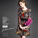 MD571247 / S M L / 2014 Fashion dress พรีออเดอร์เดรสแฟชั่นงานเกรดยุโรป สวยดูดีมีสไตล์ นางแบบใส่ชุดจริง เป๊ะเว่อร์!