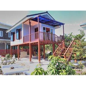 บ้านยกสูง2.5 ขนาด 4*7.5 เมตร ราคา 385,000 บาท พร้อมบิลอิ้น1 ชุด