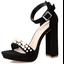 รองเท้าส้นสูง ไซต์ 34-39 สีดำ/แดง/น้ำตาล/ชมพู thumbnail 9