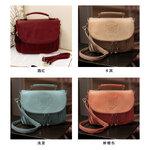 กระเป๋าแบรนเนม AXIXI รหัส A014 สีแดงแจ๊ส,สีน้ำตาล,สีเขียว,สีดำ,สีโอรส