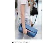 กระเป๋าแบรนเนม AXIXI รหัส A016 สี:ฟ้า