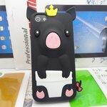 เคสไอโฟน 5/5s (Case Iphone 5/5s) เคสซิลิโคน หมูน้อย สีดำ