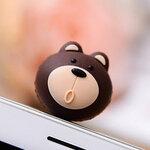 จุกเสียบ iphone4/4s/samsung bear brow silicone