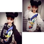Cliona's made, Donald Duck Print Long Sleeve Sweater