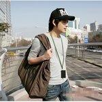 พร้อมส่ง ::FU0277:: กระเป๋าแฟชั่นใบใหญ่ สุดเท่ห์ สกรีนลาย TOUGH เหมือนแบบ สีน้ำตาล