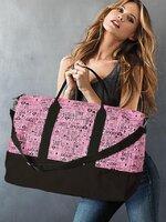 พร้อมส่ง ::BM153:: กระเป๋าแฟชั่นใบใหญ่ Victoria Secret สีชมพู เหมือนแบบค่ะ