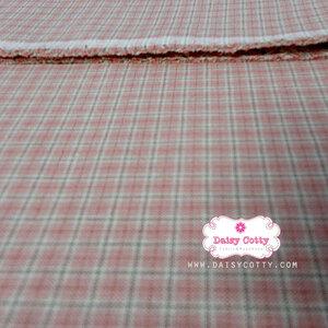 ผ้าทอญี่ปุ่น 1/4ม.(50x55ซม.) ลายตารางสีชมพูหวาน