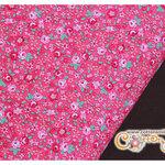 ผ้าคอตตอนญี่ปุ่นลายดอกไม้สีชมพู (ขนาด 45 x 55 cm.)