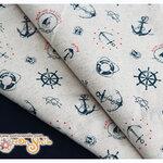 ผ้าคอตตอนผสมลินินลายสมอ (ขนาด 50 x 35 ซม.)