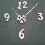 ชุดตัวเครื่องนาฬิกาญื่ปุนเดินเรียบ เข็มลายโมเดินท์ ขนาดกลาง เข็มสั้น-เข็มยาวฟันเฟืองสีเงิน เข็มวินาทีสีเงิน อุปกรณ์ DIY