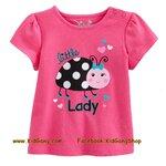 เสื้อเด็กเนื้อนิ่ม ลาย Lady bird ไซส์ 2,3,4,5,6 ปี