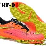 รองเท้าฟุตซอล Nike-Hypervenom-Phantom-TF-Red-Orange-Yellowไซส์ 39-44 งานระดับTop High Qulity 4A ดันทรง+ถุงผ้าฟรีEms
