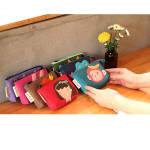 กระเป๋าสตางค์เด็ก  ลวดลายสัตว์น้อยแฟนซี
