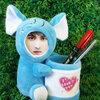 กระป๋องใส่ดินสอ ช้างสีฟ้า