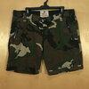 เอว36-38 แบรนด์ HCO กางเกงขาสั้นคนอ้วน ลายทหาร ผ้านิ่มเบาไม่ยืด