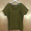 size56-58 แบรนด์ OLD NAVY เสื้อยืดคนอ้วน ผ้ายืดนิ่มๆ เซอร์ๆ ปลายแขนเบิ้ล สีเขียวขี้ม้าอ่อน