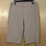 เอว36-42 แบรนด์ JONES NEW YORK กางเกงคนอ้วน ผ้ายืดเนื้อหนานิ่ม ขาสี่ส่วน สีเนื้อ