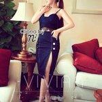 Cliona made ' Vivian Lace Top + Denim Skirt Set