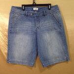เอว38-42 แบรนด์ V venezia กางเกงคนอ้วน กางเกงยีนส์ยืด สีน้ำเงินฟอกซีด ขาสามส่วน