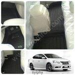 พรมปูพื้นรถยนต์ 5D รุ่น SYLPHY Leather เข้ารูป 100%