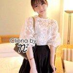 Cliona Made ,Flower Organza Skirt Pleat Set