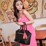 Pre-Order กระเป๋าแฟชั่น PG สีดำ สวย สดใส น่ารักมากค่ะ