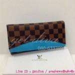 กระเป๋าสตางค์ Louis Vuitton ลายตาราง 3 พับ ขนาด 7.5 x 4.5 นิ้ว (AAA)