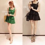 Cliona made, Party su Layer Trim Mini Dress