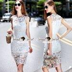 Seoul Secret Say's... Princessly Ivory Lace Dress