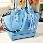 กระเป๋าแฟชั่น Axixi สีฟ้า พาสเทล สไตล์ Sweetie Girl