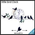 นาฬิกาแขวนเหล็กดัดนก นกแกว่งได้