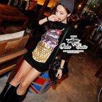 Cutie ice-cream mini dress Black