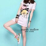 ®Marsh mallow's® MadeLively roses M diamond straight Dress