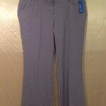 เอว38-42 แบรนด์ Ricki's กางเกงคนอ้วน กางเกงทำงาน สีน้ำตาลอ่อนเทา  cotton&spandex ขายาว