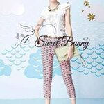 Beach & Karl tee and pink floral trouser set by Sweet Bunny