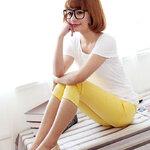 กางเกงพยุงหน้าท้อง ขา5ส่วนสีเหลือง น่ารักค่ะ