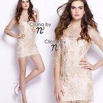 Cliona made' Nora Luxury Lace Dress - Mini Dress Cream