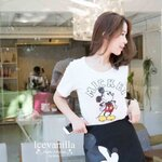 Mickey sequin t-shirt summer style