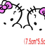 สติ๊กเกอร์ติดกระจกมองข้างรถยนต์ Hello Kitty โบว์ชมพู (7.5x5.5 CM) แพ็คคู่ thumbnail 2