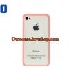 Case iPhone 4/4s iPhone 5 ขอบสีชมพูอ่อน ด้านหลังสีใส