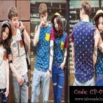 PRE-ORDER เสื้อยืดคู่รัก เกาหลีใหม่เนื้อผ้าฝ้ายยืดพิมพ์ลายสีสดใส ญ/ช.เสื้อยืดแขนสั้น
