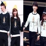 PRE-ORDER ชุดคู่รักเกาหลีใหม่ เชตเสื้อกันหนาว มาพร้อมกับกางเกงขายาว เข้าชุดกันน่ารักสุดๆ ญ/ช.เสื้อกันหนาวแขนยาว+กางเกงขายาว