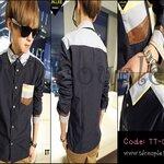 PRE-ORDER เสื้อเชิ้ตแฟชั่นเกาหลี สไตล์คาวบอย สีกรมแขนยาว