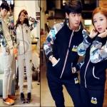 PRE-ORDER ชุดกันหนาวคู่รัก เสื้อกันหนาวมาพร้อมกับกางเกงขายาว พิมพ์ลายคู่น่ารักๆ ญ/ช.เสื้อกันหนาว+กางเกงขายาว